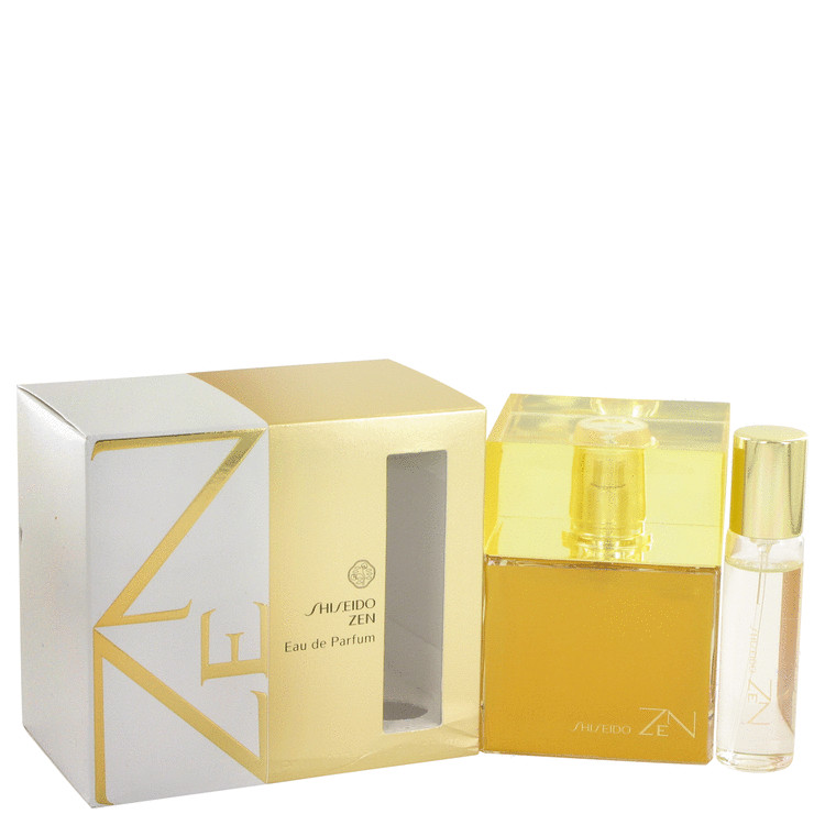 Zen by Shiseido Eau De Parfum Spray with .5 oz Mini EDP Spray 3.4 oz for Women