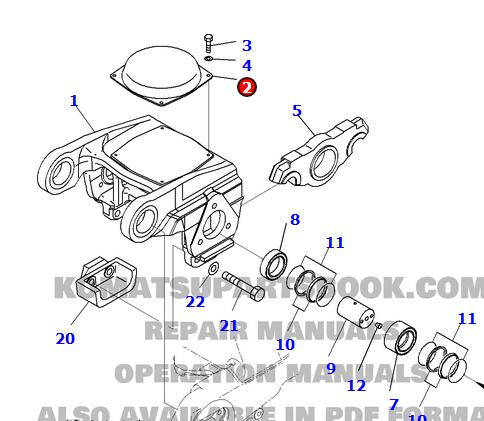 komatsu bulldozer parts images.
