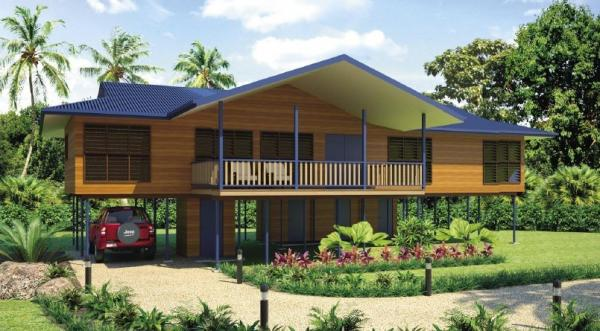 wood house bali images