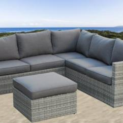 Maze Rattan Half Moon Sofa Set Grey Flow Sectional Bed With Storage Gartensofa Garden Sets Bench