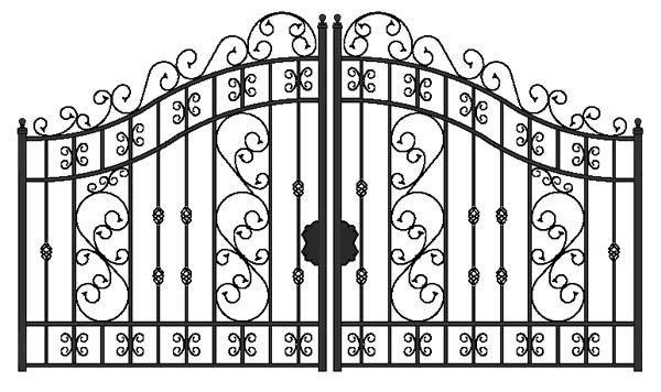 driveway gate design images.