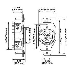 LEVITON Locking Receptacle NEMA L5-20R images,View LEVITON