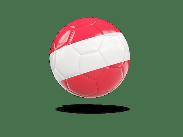 Glossy Soccer Ball. Illustration Of Flag Of Austria