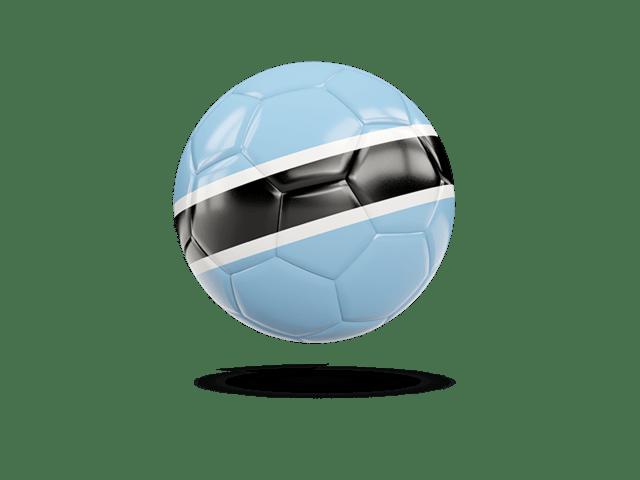 Glossy Soccer Ball. Illustration Of Flag Of Botswana
