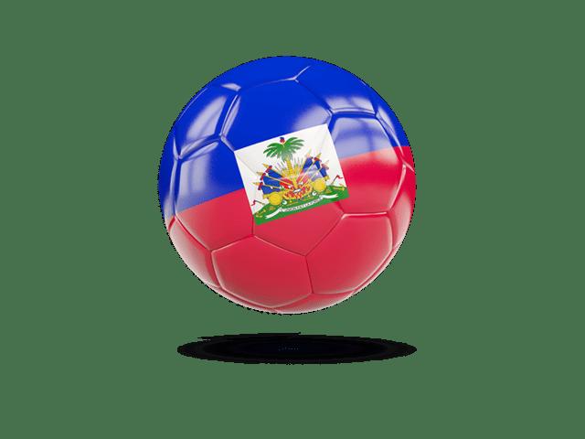 Glossy Soccer Ball. Illustration Of Flag Of Haiti