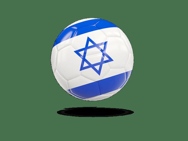 Glossy Soccer Ball. Illustration Of Flag Of Israel
