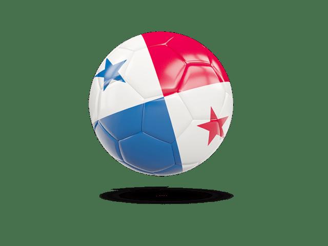 Glossy Soccer Ball. Illustration Of Flag Of Panama