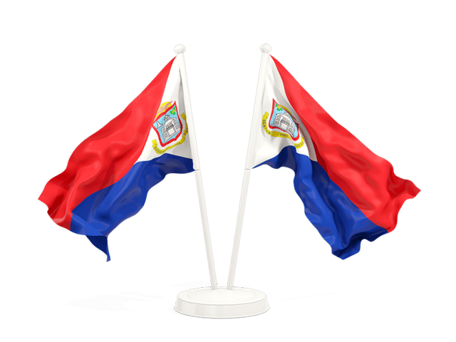 two waving flags illustration