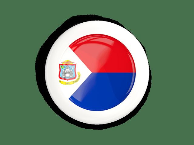 white framed round button