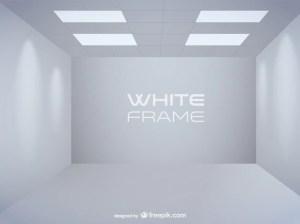 empty vector exhibition spot lights interior ago vectors shelves frames wall psd freepik