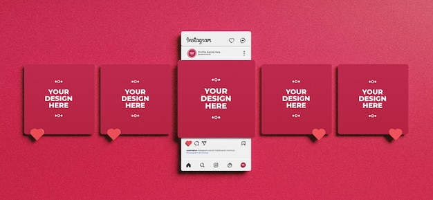 Here is instagram profile psd mockup template 2017 with likes and comments mark. Instagram Mockup Images Free Vectors Stock Photos Psd