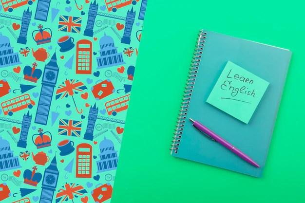 英語の付箋モックアップを學ぶ   無料のPSDファイル