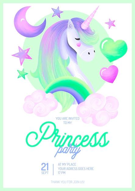 unicorn birthday card psd 2 high