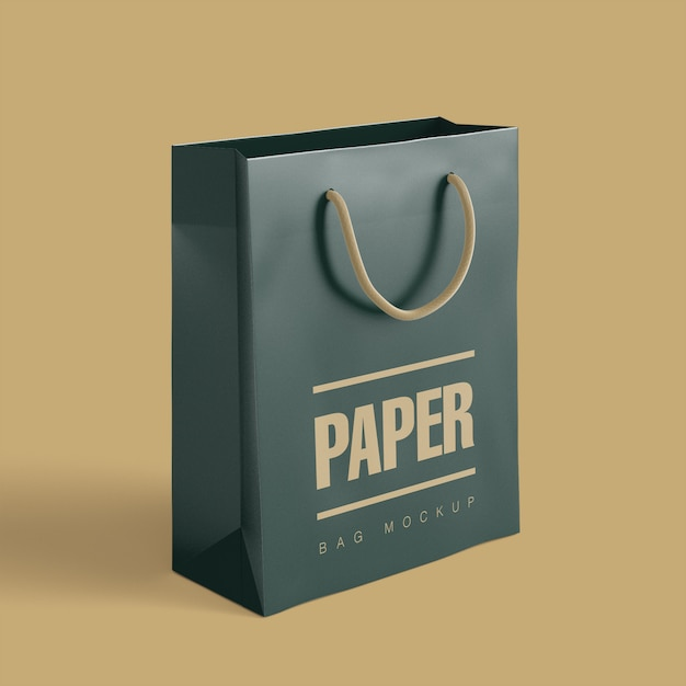A realistically designed free shopping bag mockup for showcasing all sorts of merchandising designs, brands, logos, slogans and more. Shopping Bag Mockup Freepik