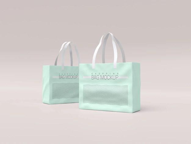 clothing label mockup to present your branding design in a photorealistic look. Bag Mockup Freepik