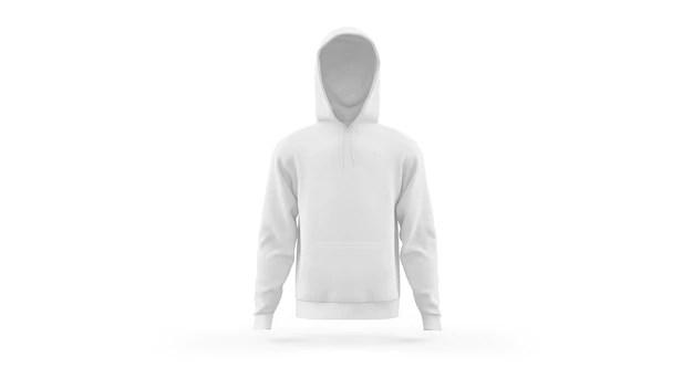 Mockup of the front and back of a hoodie. Hoodie Mockup Freepik