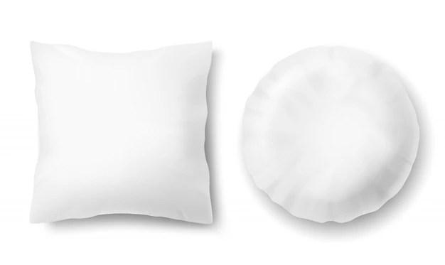 premium psd round pillow mockup
