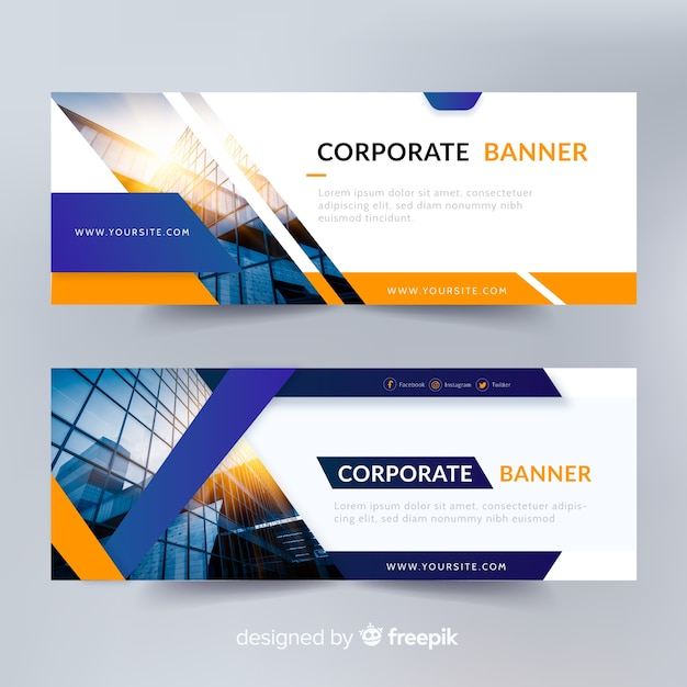 abstract banner templates with