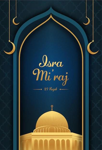 Background Isra Mi Raj : background, Vector, Miraj, Backgroud, Design