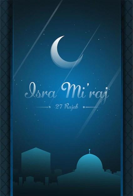Background Isra Mi Raj : background, Premium, Vector, Al-isra, Mi'raj, Translate, Night, Journey, Prophet, Muhammad