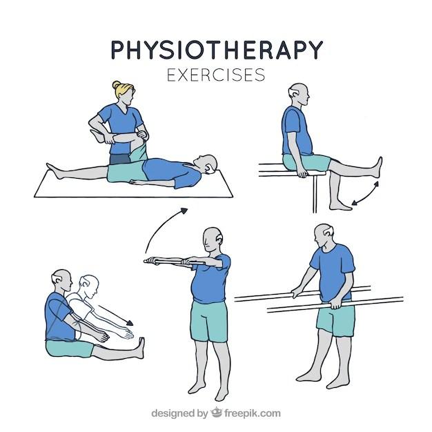 assortment of rehabilitation exercises