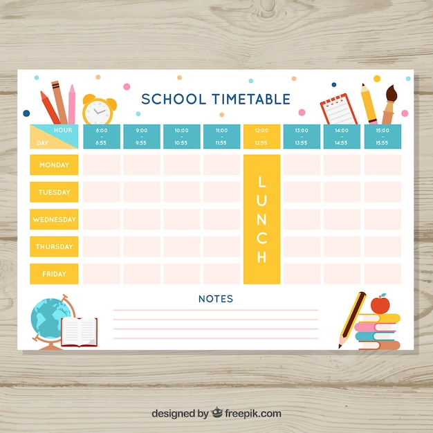 Beautiful school timetable template also vectors photos and psd files free download rh freepik