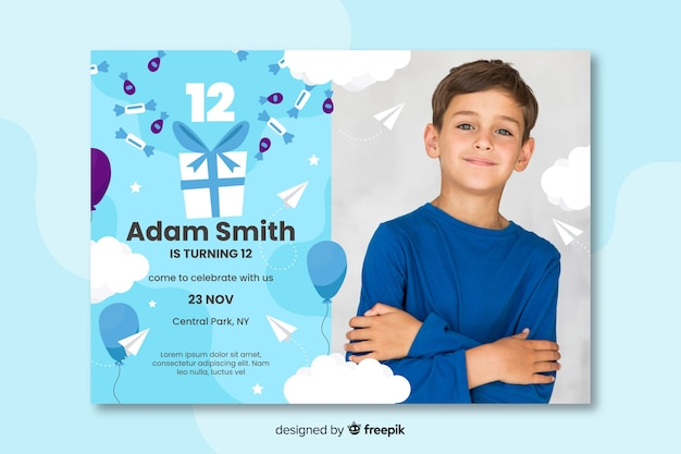 kids birthday invitation card images