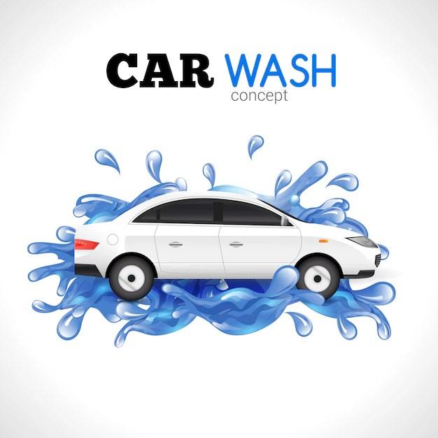 car wash vectors photos