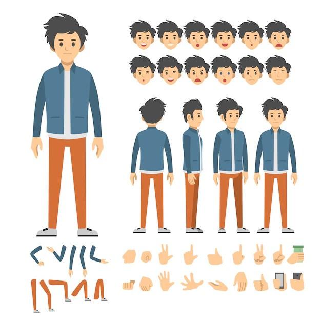 casual man character set