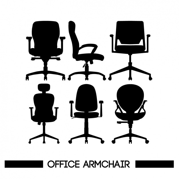 office chair illustration correct posture vectors photos and psd files free download chairs silhouettes