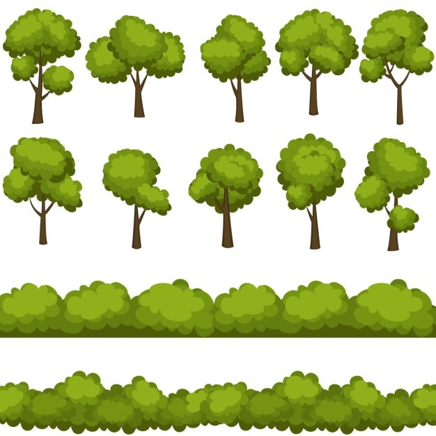 shrub graphic symbols diagram simple wiring of a car tree vectors photos and psd files free download collection different trees