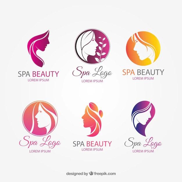 beauty salon logo vectors
