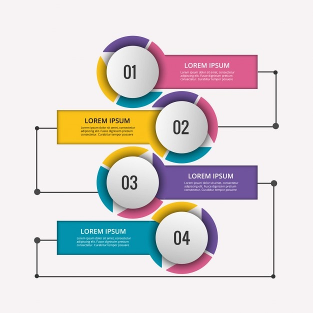 Colored infographic diagram with circles also flowchart vectors photos and psd files free download rh freepik
