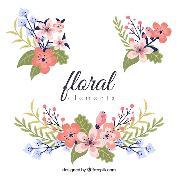 free colorful floral element