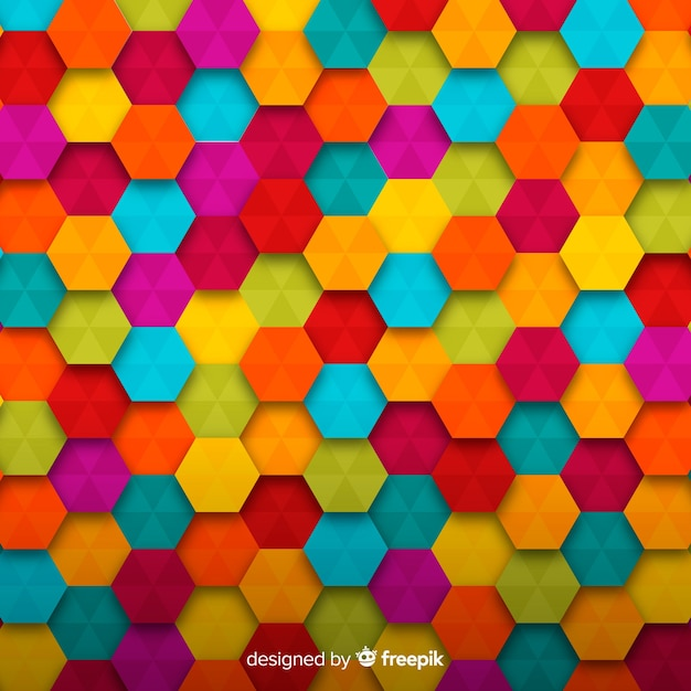 colorful shaped background vector
