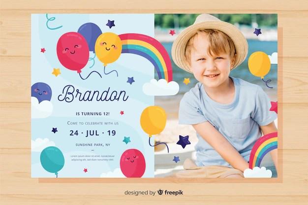 kids birthday invitation card images