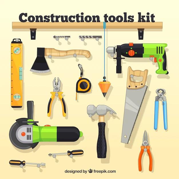 construction tool kit vector