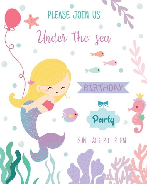 mermaid invitation images free