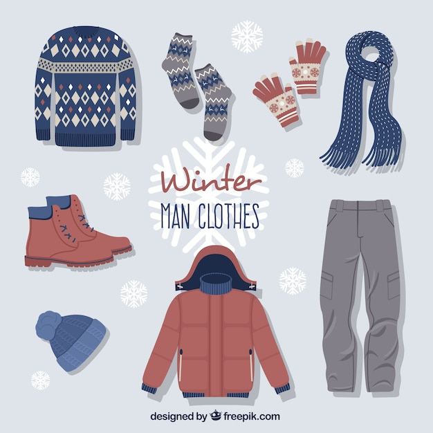 Cute winter clothes with accessories also vectors photos and psd files free download rh freepik