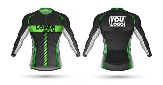 Mock up jersey coreldraw design corel , 20 download template kaos lengan panjang psd psd , download mockup kaos gratis (format coreldraw) ~ poloskaos :d. Premium Vector Cycling Jersey Template