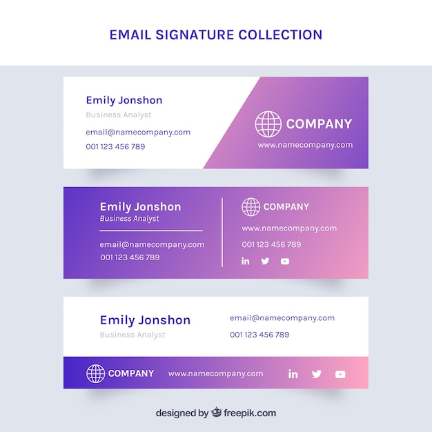 email signature vectors photos
