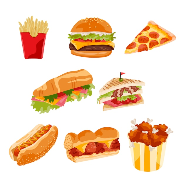 Fast food also vectors photos and psd files free download rh freepik