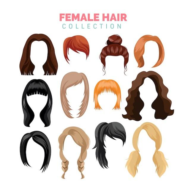 hair vectors and psd files
