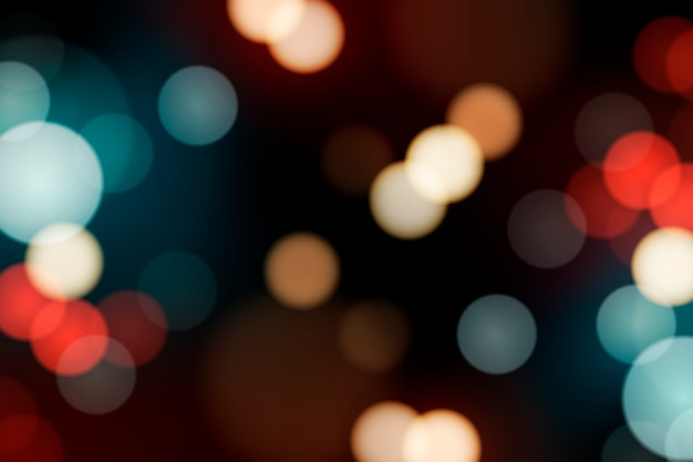 festive blurred lights vector