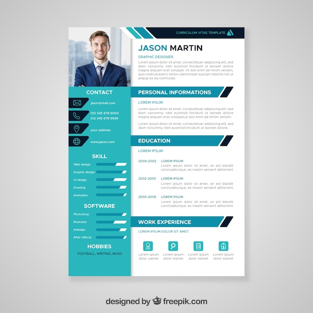 Resume Template Vectors, Photos and PSD files | Free Download