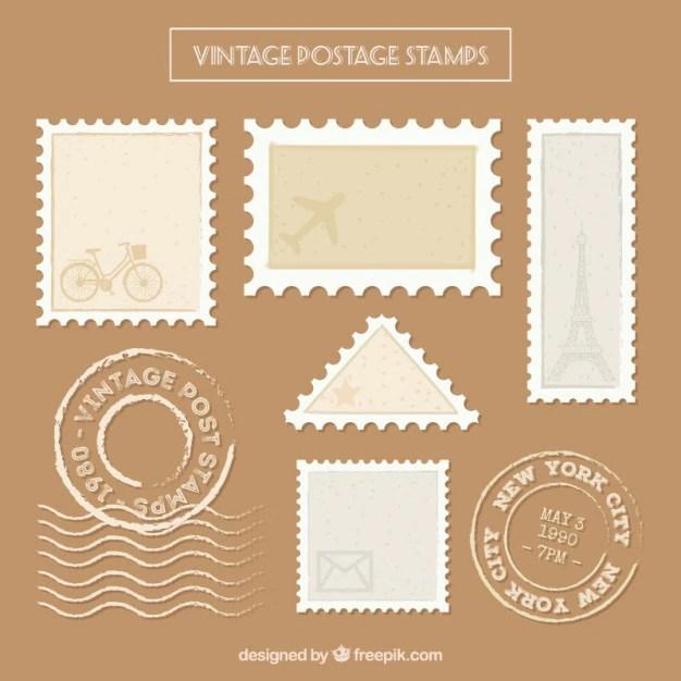 postage stamp vectors photos