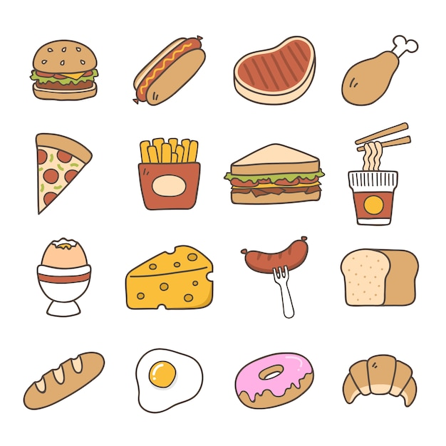 Food icons collection also junk vectors photos and psd files free download rh freepik