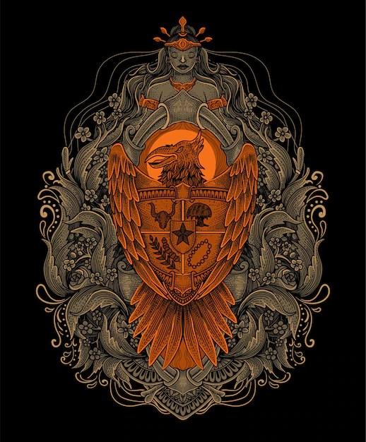 Garuda Vector Art : garuda, vector, Garuda, Vectors,, Images, Format