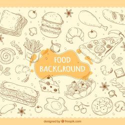 Fast Food Drawn Images Free Vectors Stock Photos & PSD