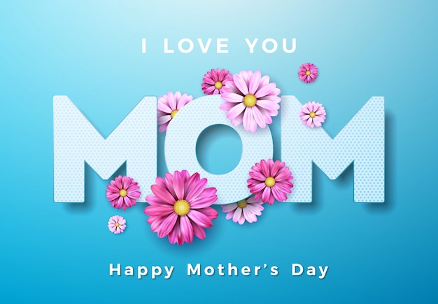 mothers day card vectors